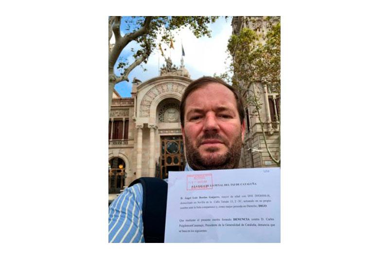 Un abogado sevillano denuncia a Puigdemont por sedición y rebelión